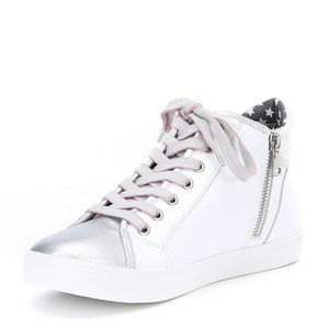 STEVE MADDEN Star Glitter Lace Up Sneakers